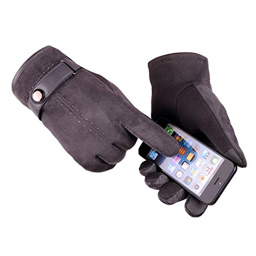 Sopety Men Winter Warm Motorcycle Ski Snow Snowboard Gloves (Carhartt Leather Waterproof Glove)