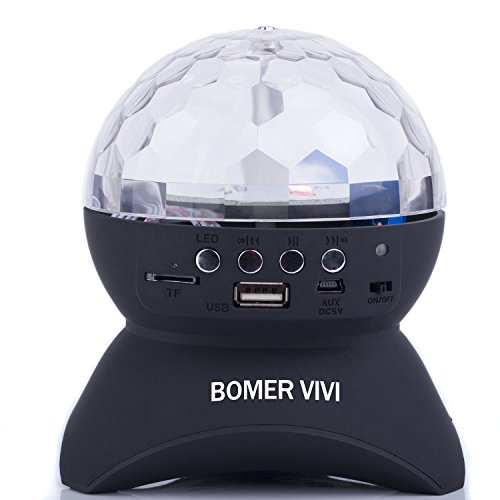 Boomer Vivi Disco Dj Bluetooth Speakers Rotating Led