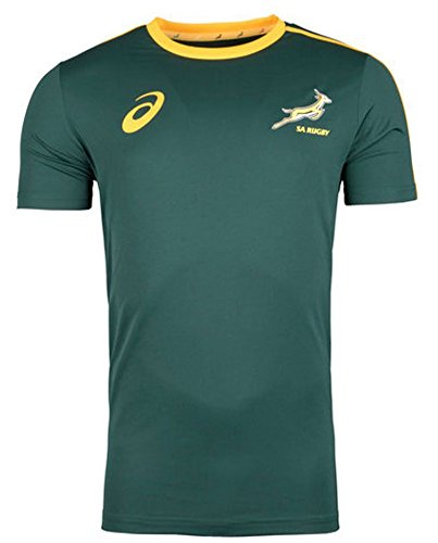 South Africa Springboks Supporters Rugby Tee 2017 - Bottle Green (South Springboks Africa Rugby)