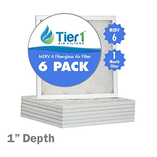 16x22x1 Merv 6 Replacement AC Furnace Air Filter (6 Pack)
