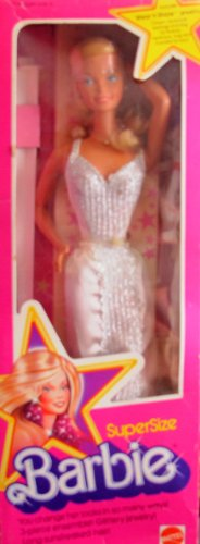 SUPER SIZE BARBIE Doll w 3 Piece Ensemble & Jewelry For YOU & Barbie to Share (1976 Mattel Hawthorne) -