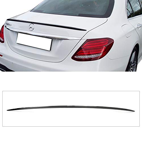 - Pre-painted Trunk Spoiler Fits 2017-2018 Benz E Class W213 | Factory Style ABS Painted#040 Black Rear Tail Lip Deck Boot Wing By IKON MOTORSPORTS
