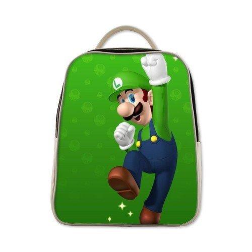 Super Mario Luigi soft plush child school Shoulder bag cu...