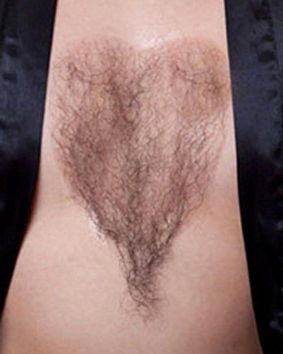 Sepia Costume Wigs (Chest Hair Fake Bushy Macho Man She-man Human Hair Fiber #947 Sepia Costume Wigs,Facial Black)