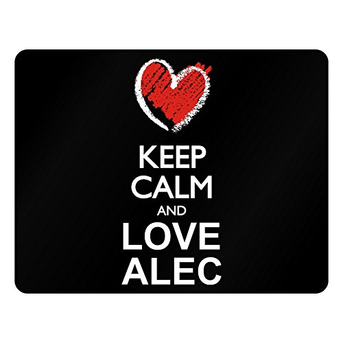Idakoos Keep calm and love Alec chalk style - Male Names - Plastic Acrylic (Alec Black Acrylic)