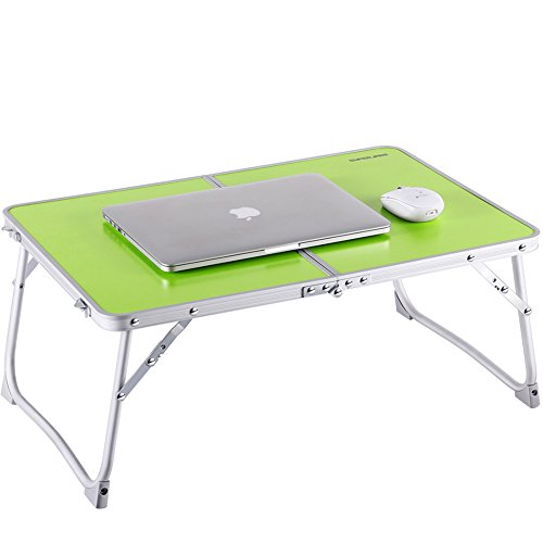 Price comparison product image Laptop Table for Bed,  Superjare Portable Outdoor Camping Table,  Breakfast Serving Bed Tray with Legs - Green