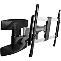 Monoprice Full-Motion Articulating TV Wall Mount Bracket - For TVs 37in to 70in Max Weight 99lbs Extension Range of 2.1in to 17.6in VESA Patterns Up to 600x400 UL Certified