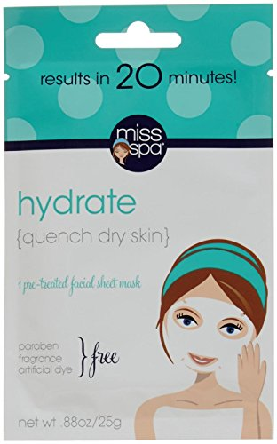 Miss Spa Hydrate Facial Sheet Mask, 0.88 - Facial Masque Spa