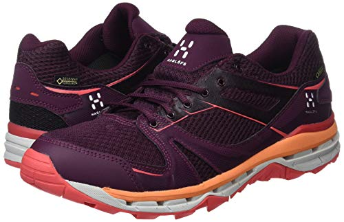 Women Red Haglöfs 3r7 Hiking Trekking nbsp;Footwear Women Aubergine and Camelia 497610 6wq6F