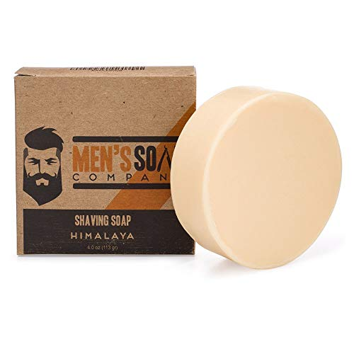 Men's Soap Company Shaving Soap for Men and Women 4.0 oz Refill Puck Made With Natural Vegan Plant Ingredients. Shea Butter and Vitamin E Create Thick Shave Soap Lather for Skin Protection, Himalaya