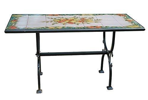 Tavoli Da Giardino Risparmio Casa : Tavolo da giardino in ferro battuto e mattonelle in ceramica