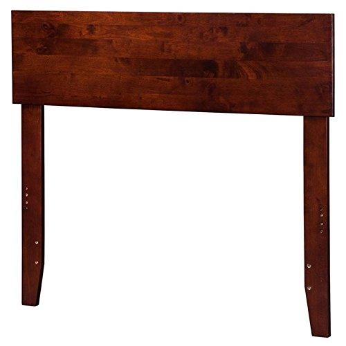 (Atlantic Furniture 43.63 in. Twin Headboard in Walnut Finish)