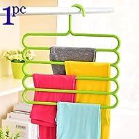Premsons® Clothes Hanger Portable Anti-Slip Storage Rack Space Saving Hook for Garment Drying Multi Functional