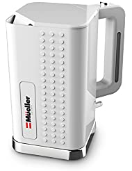 Mueller ExacTemp Modern Electric Kettle Water Heater - Most Powerful 1500W Rapid Boil Technology, Tea/Coffee Pot - 360 degree Cordless Swivel Base, BPA-Free with Auto Shut-Off and Boil-Dry Protection