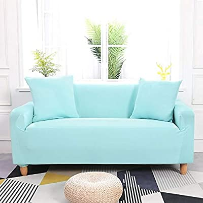 Fdbz Solid Color Corner Sofa Covers For Living Room Elastic Slipcovers Couch Cover Stretch Sofa Towel Dark Green 2 Seat 145 185cm Buy Online At Best Price In Uae Amazon Ae