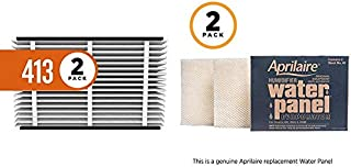 product image for Aprilaire 413 Replacement Air Filter for Aprilaire Whole Home Air Purifiers, Healthy Home Allergy Filter, MERV 13 (Pack of 2) + 45 Replacement Water Panel for Aprilaire Whole House Humidifier Models