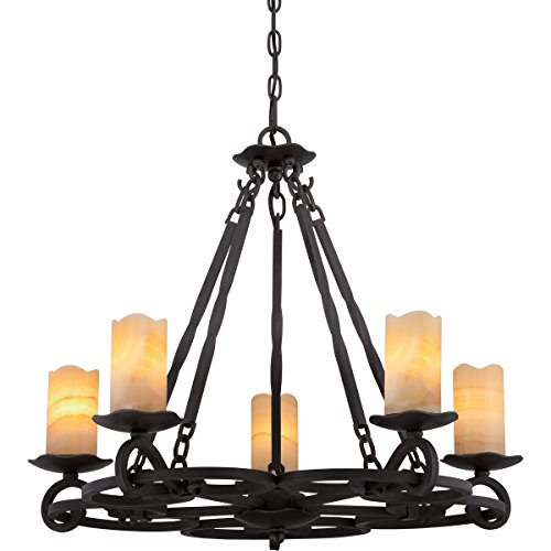 Spanish Ceiling Lighting - Quoizel AME5005IB Armelle 5-Light Chandelier, Imperial Bronze
