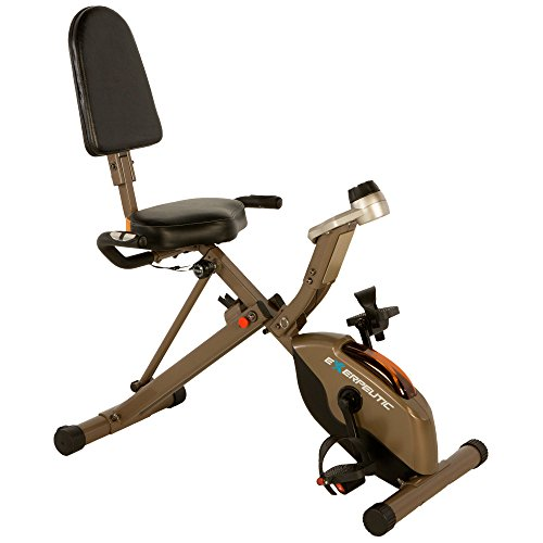 Exerpeutic Gold 525XLR Folding 400 Lb Maximum Capacity Recumbent Exercise Bike