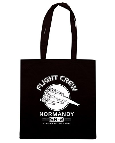 T-Shirtshock - Bolsa para la compra TGAM0021 Explore the Galaxy - The Citadel and Beyond Negro