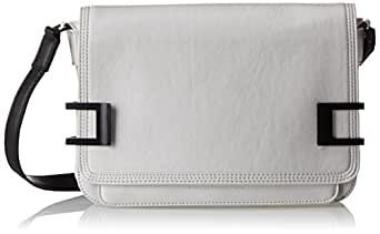 French Connection Hunter Clutch,Black/White,One Size