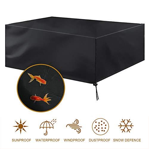 MORIASTER Funda Protectora para Muebles de jardin Funda Muebles Exterior Impermeable Anti-UV Proteccion Cubierta de Muebles de Mesas 210D Oxford Negro