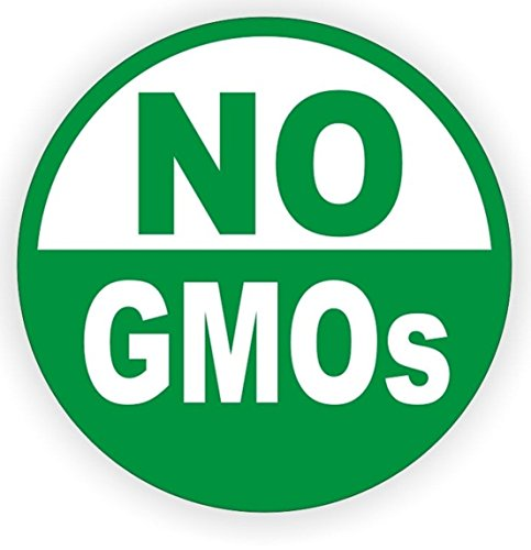 1-Pcs Greatest Popular No GMO's Vinyl Stickers Sign Environmentally Friendly Modified Organism Safe Organic Size 3