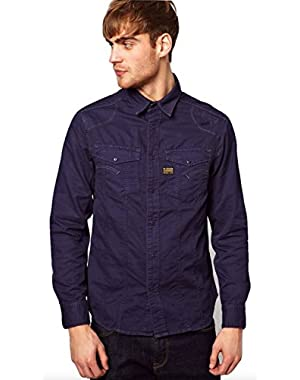 MD ROCK Shirt L/S in Police Blue Alpine Twill, Size XXL, $170