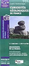 Carte touristique : curiosités géologique de france par BRGM