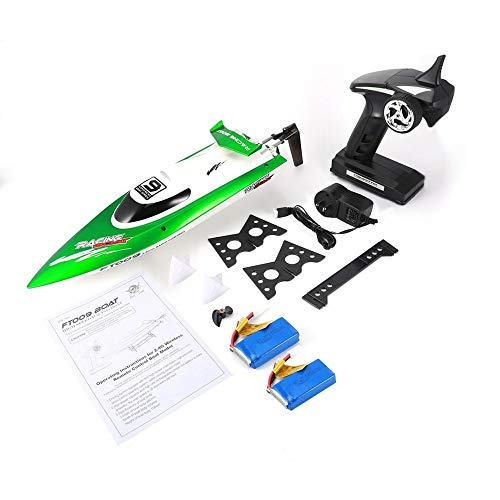 Emily Feilun FT009 2.4G RC Racing Boat Super Speed Electric RC Boat Toy 2 Batteries Green 3000mAh US ()