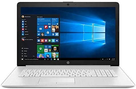 "HP 17.3"" Non-Touch Laptop Intel tenth Gen i5-10210U, 1TB Hard Drive, 12GB Memory, DVD Writer, Backlit Keyboard, Windows 10 Home Silver (Renewed)"