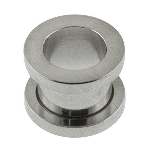 6 Gauge - 4MM 316L Surgical Steel Screw Fit Flesh Tunnels -