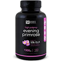 Evening Primrose Oil 1300mg 120 Liquid Softgels, Cold-Pressed with No fillers or Artificial Ingredients; Non-GMO & Gluten Free, Made in theUSA