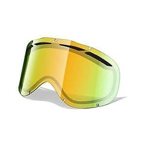 Oakley Ambush-Cristal de recambio para gafas de esquí (Iridio), color amarillo, Ambush Dual Vent, multi-coloured - Fire Iridium, talla única