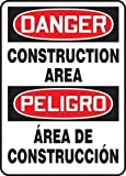 Accuform DANGER CONSTRUCTION AREA (BILINGUAL) (SBMCRT135XP)