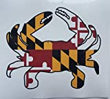 Maryland FLAG Blue Crab Car Refrigerator Large