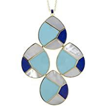 IPPOLITA Polished Rock Candy 18K Yellow Gold Multi-Colored Stones Teardrop Pendant Necklace