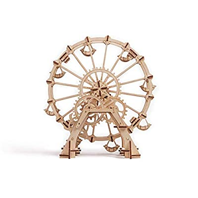 Wood Trick Observation Wheel Toy Model Kit for Adults and Kids to Build - Ferris Wheel - 3D Wooden Puzzle DIY Kit: Toys & Games
