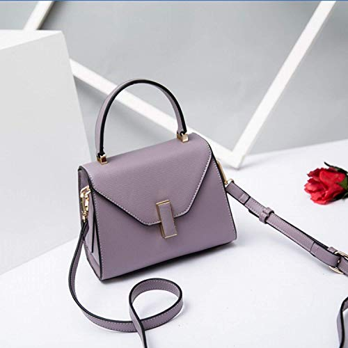 Bolso Un color Bolsa Mensajero Tamaño Negro Hombro Púrpura Eeayyygch Tamaño De 4wq8WdqSB
