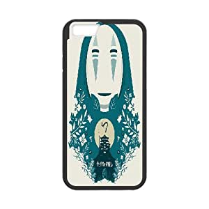IPhone 6S Case Spirited Away Papercut Style Print, [Black]