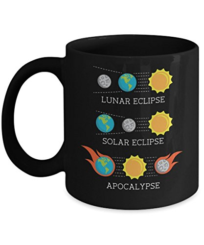 Solar Eclipse Lunar Eclipse Apocalypse Fun Coffee Mugs by Bravenca