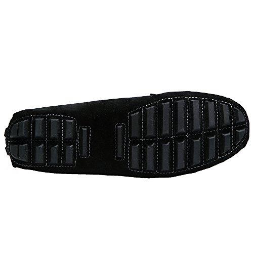 Libre De Yy Tiempo Negro rui Slip Ante El Zapatos Mocasines on Para Mujer Cómodos q4H6wZ1qa