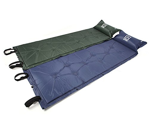 Reixus(TM) One Piece Self-Inflating Camp Mat Sleeping Pad with Straps and Storage Bag