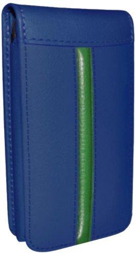 Piel Frama Ledertasche Classic Magnetic RACE Edition Blau/Grün für Apple iPhone 5 / 5S
