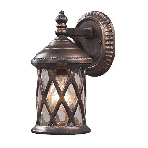 Alumbrada Collection Barrington Gate 1 Light Outdoor Sconce In Hazelnut Bronze