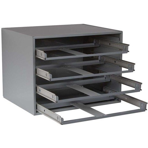 Durham Slide Cabinet - 20X15-3/4 X14-1/2 - 4-Drawer Cabinet - Gray