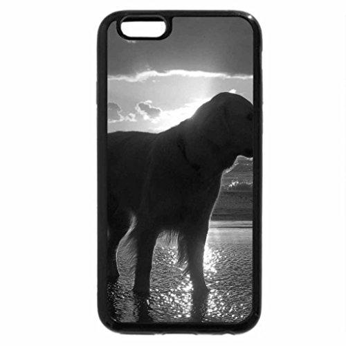 iPhone 6S Plus Case, iPhone 6 Plus Case (Black & White) - Dog