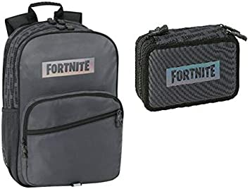 FORTNITE Black Night Mochila + Estuche 3 Cremalleras + Diario: Amazon.es: Equipaje