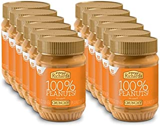 product image for Crazy Richard's All Natural Crunchy Peanut Butter 16 oz Jar 100% Peanuts No added Sugar, Salt, or Palm Oil (Crunchy Peanut Butter, 12 jars)