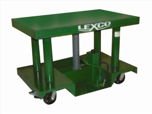 Lexco-496047-Steel-Foot-Operated-Portable-Hydraulic-Lift-Table-3000-lb-Capacity-30-x-30-Tabletop-40-Maximum-Height