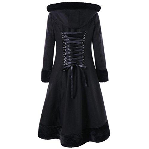 a XXL Chaud Hiver Manteaux Femme Tops S Noir Tops Mode Casual SHOBDW Blouson Noir O1A4wnxWnq